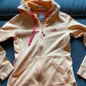Women's north face zip up jacket with hood